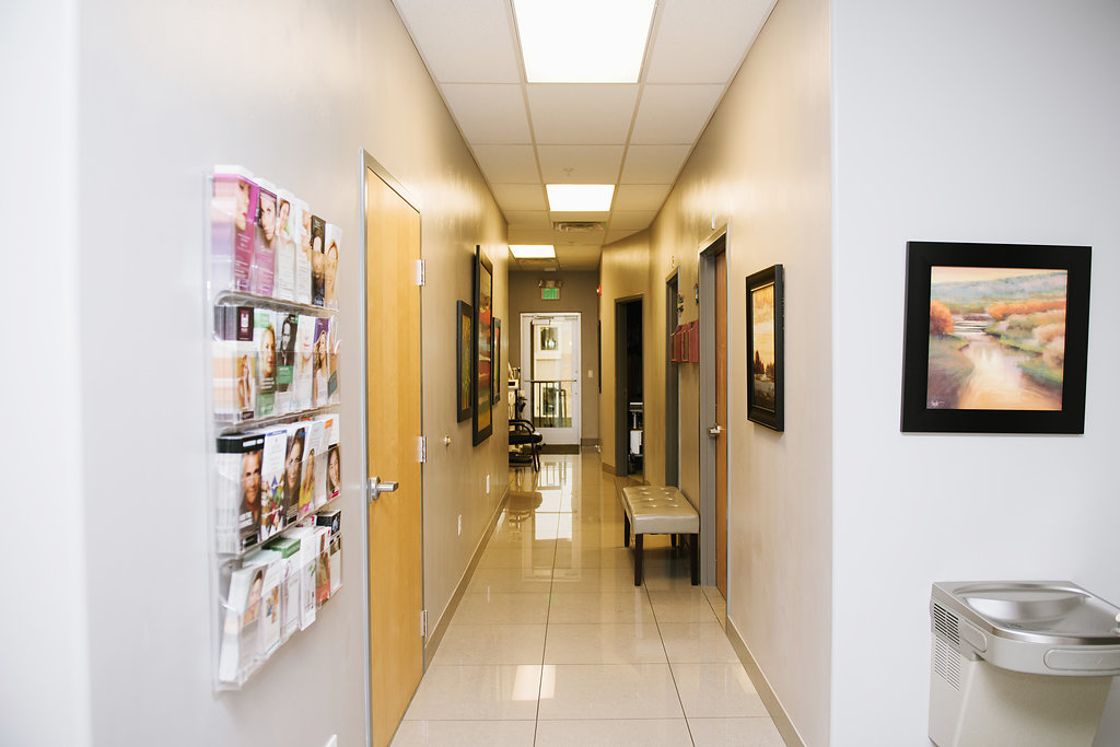 Riverside Medical Arts - Hallway leading to Aesthetic rooms